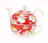 Teapot for tea and a circle — Stock Photo