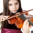 Stock Photo: Little girl play violin