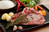 Beef steak close up — Stock Photo