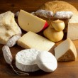 Selection of cheese and salami — Stok fotoğraf