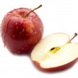 Red sliced apple - Stock Photo