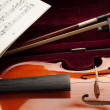 Violin with bow — Stock Photo #1898441