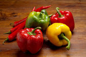 Variety of capsicum — Stock Photo