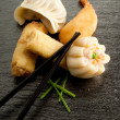 Royalty-Free Stock Photo: Mix dim sum  and roll spring
