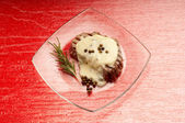 Tenderloin with roquefort cream — Stock Photo