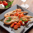 Dish with scampi — Stock Photo