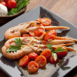 Dish with scampi — Stock Photo #2486182
