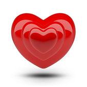 Corazón en corazón — Foto de Stock