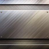 金属製のテンプレート背景 — ストック写真