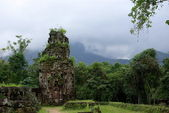 Cham ruins in lush vegetation — Stock Photo