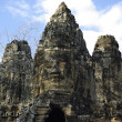Three towers of Bayon Temple in Angkor — Stock Photo