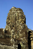 A tower of Bayon Temple in Angkor — Stock Photo