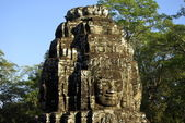 Details of a tower faces of Bayon temple — Stock Photo