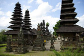 Typical pointed roofs in Bali island — Stock Photo