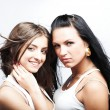 Two girlfriends - Stock Photo