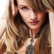 Close-up portrait of sexual blond girl — Stock Photo #1889234