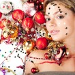 Stock Photo: New Year girl