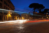 Nightscene in Rome. Slow exposure — Stock Photo