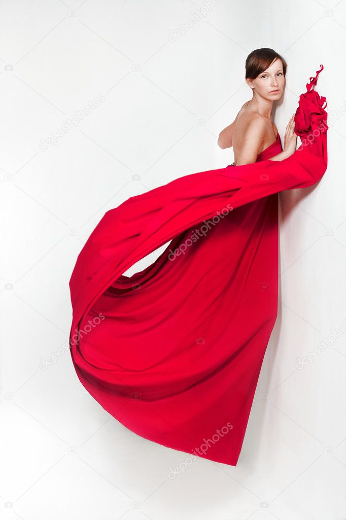 Lady in red   Stock Photo #2096729