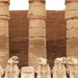 Stock Photo: Damaged Karnak sculptures