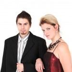 Portrait of young elegant couple — Stock Photo #1882977