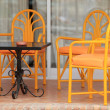 Stock Photo: Chairs on patio
