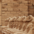 Stock Photo: Sculptures at Karnak temple