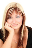 Smiling blonde teenager — Stock Photo