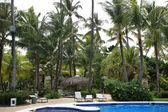 Pool at tropical resort — Stock Photo
