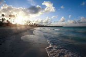 Sunset at beach — Stock Photo