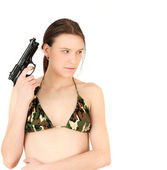 Hot and dangerous woman — Stock Photo