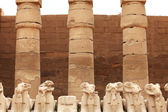 Damaged Karnak sculptures — Stock Photo