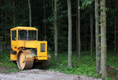 Machine in forest — Stock Photo