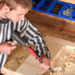 Young professional carpenter — Stock Photo #1890675