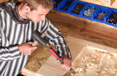 Young professional carpenter — Stock Photo