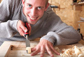 Smiling workman — Stock Photo