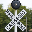 Railroad Crossing Sign — Stock Photo #1922698