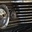 Classic car Headlight and grill closeup — Stock Photo