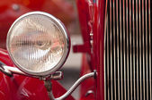 Vintage Headlight closeup — Stock Photo