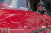 Classic red car closeup — Stock Photo