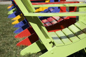 Chair in Rainbow Colors — Stock Photo