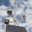 Solar battery and meteorological devices - Stock Photo