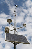 Solar battery and meteorological devices — Stock Photo