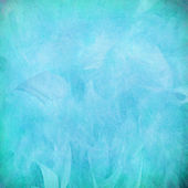 Blue feather abstract on paper — Stock Photo