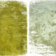 Mustard paint and grey cement — Stock Photo