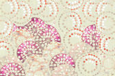 Pink red and white jewel circles — Foto Stock
