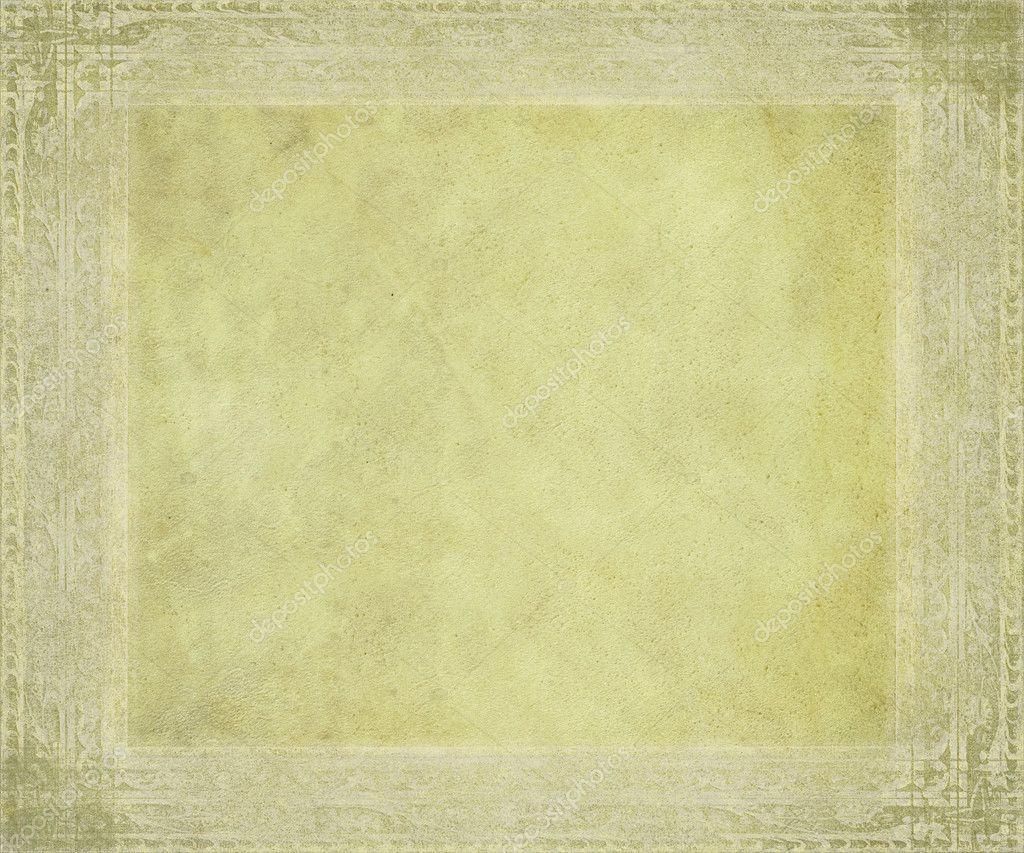 Antica pergamena con cornice in rilievo — Foto Stock ...