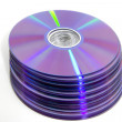 Many dvds - Stock Photo