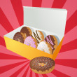 Box of donuts illustration — Stock Photo #2078761