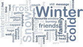 Winter wordcloud — Stock Photo